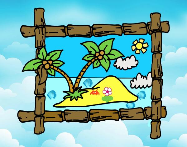 Marco con palmeras