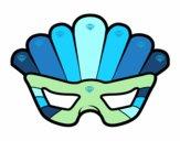 Dibujo Máscara con plumas pintado por superchic
