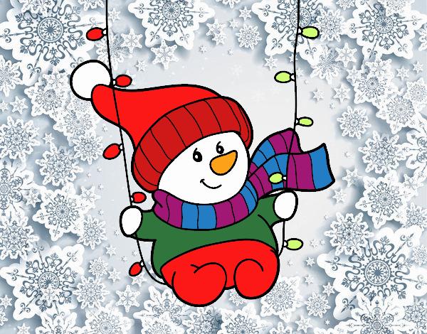 Muñeco De Nieve Dibujo: Dibujo De Muñeco De Nieve Pintado Por En Dibujos.net El