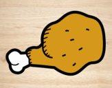 Dibujo Muslo de pollo pintado por moisesb