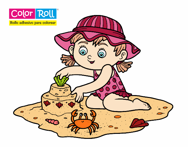 Dibujo Niña playera Color Roll pintado por AgusNet