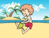 Dibujo Niño jugando en la arena pintado por AgusNet