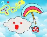 Dibujo Nube con arcoiris pintado por adrinette1