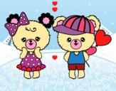Ositos Kawaii enamorados