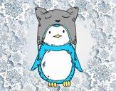 Dibujo Pingüino con gorrito divertido pintado por adrinette1