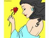 Princesa con una rosa