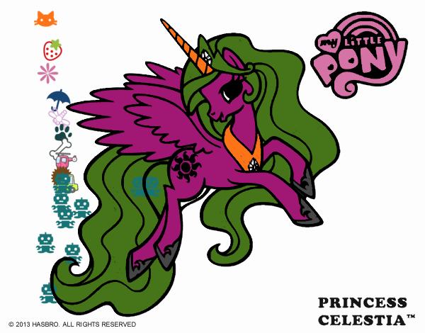 Dibujo Princess Celestia pintado por Francesita