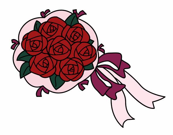 Dibujo Ramo de gardenias pintado por albabm24