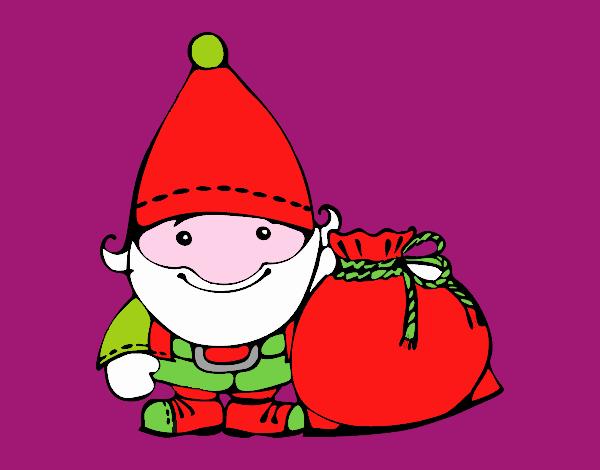 Santa Claus con su saco