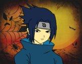 Dibujo Sasuke enfadado pintado por Iverson