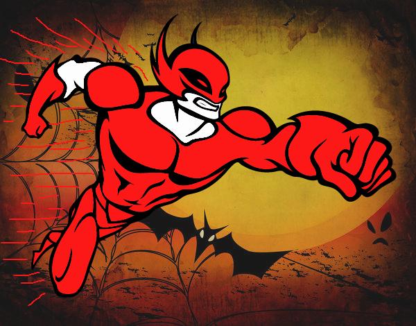 Dibujo Superhéroe sin capa pintado por Xxkenny3xx