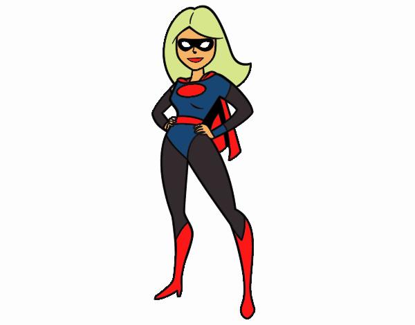 Dibujo Superheroina pintado por stefanyvam