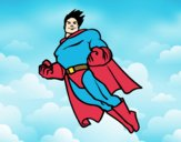 Dibujo Superman volando pintado por Moi777