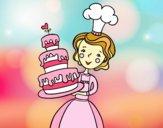 Dibujo Tarta de cumpleaños casera pintado por adrinette1