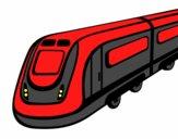 Dibujo Tren de alta velocidad pintado por giancaros