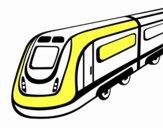 Dibujo Tren de alta velocidad pintado por yandel24