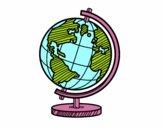 Dibujo Un globo terráqueo pintado por AgusNet