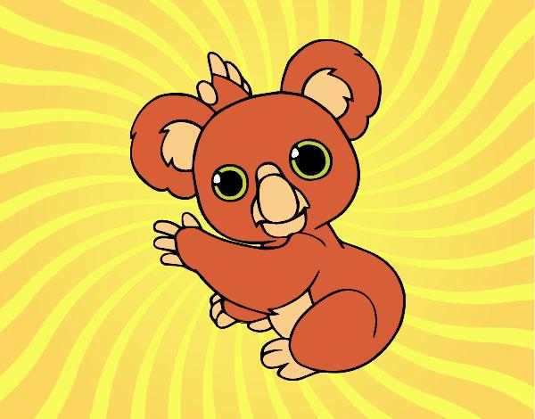 Dibujo Un Koala pintado por lucia23432