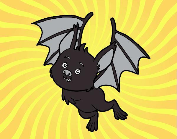 Dibujo Un murciélago simpático pintado por lucia23432