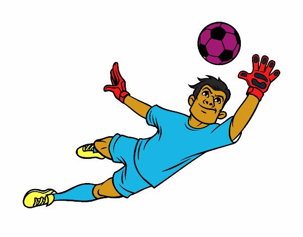 Dibujo Un portero de fútbol pintado por giancaros