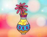 Dibujo Una flor en un jarrón pintado por ilikantra
