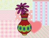 Dibujo Una flor en un jarrón pintado por Juice