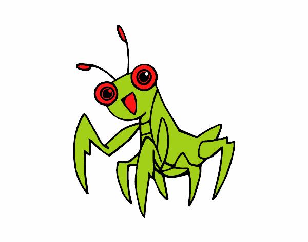Dibujo Una mantis religiosa pintado por giancaros