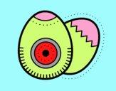 Dibujo 2 huevos de pascua pintado por markaide