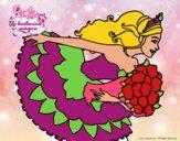 Dibujo Barbie en un saludo de agradecimiento pintado por DebaKassy