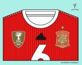 Camiseta del mundial de fútbol 2014 de España