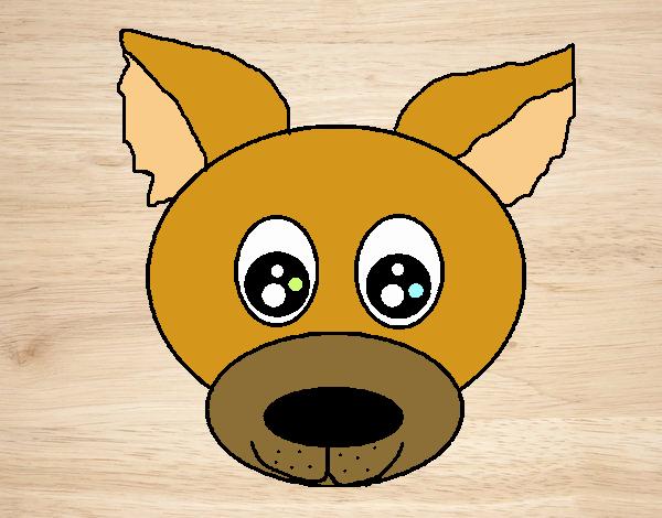 Dibujo Cara de cachorro pintado por xXPucchiXx