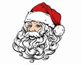 Cara de Santa Claus para Navidad