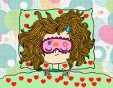 Dibujo Chica durmiendo pintado por soreliz