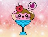 Dibujo Copa de helado kawaii pintado por vagal