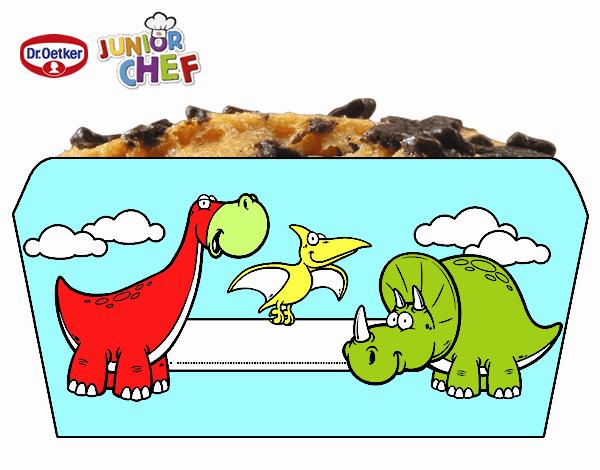 Dr Oetker Junior Chef Molde dinosaurios