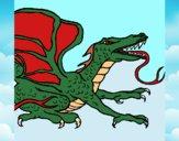 Dibujo Dragón réptil pintado por xXPucchiXx