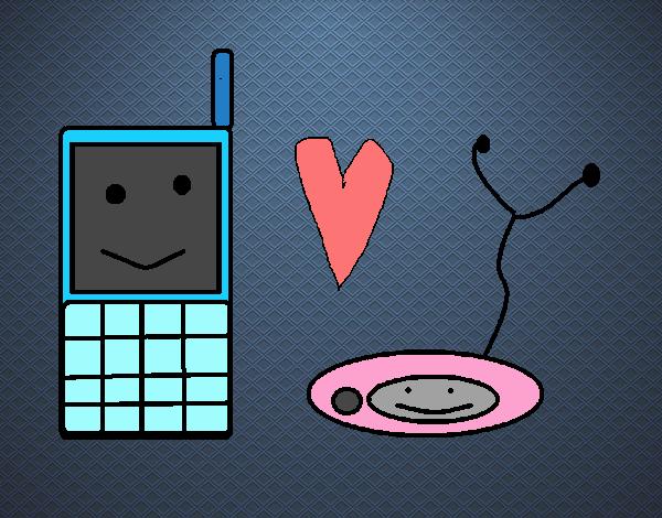 Dibujo Electrónicos enamorados pintado por xXPucchiXx