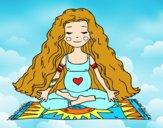 Dibujo Embarazada practicando yoga pintado por Lucia12hey