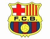 Dibujo Escudo del F.C. Barcelona pintado por julioalvar
