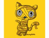 Dibujo Gato garabato momia pintado por mandalis