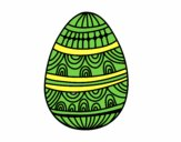Dibujo Huevo de Pascua estampado con ondas pintado por mendz