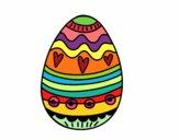 Dibujo Huevo de Pascua para decorar pintado por mendz