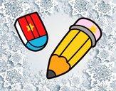 Dibujo Lápiz y goma pintado por camilator
