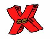 Dibujo Letra X pintado por mendz