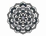 Dibujo Mandala pétalos de flor pintado por Kapptan