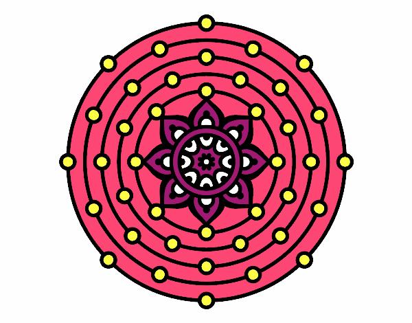 Dibujo Mandala sistema solar pintado por fer046