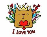 Dibujo Mensaje de Amor pintado por soreliz