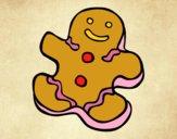 Dibujo Muñeco de galleta pintado por Saritita