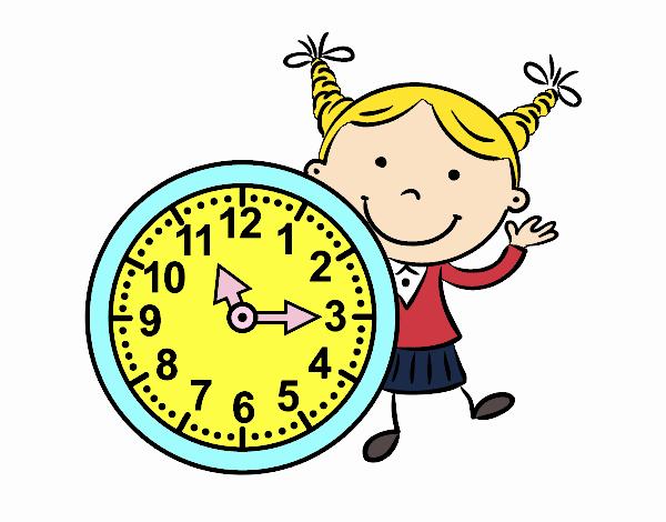 Dibujo De Niña Con Reloj Pintado Por En Dibujos.net El