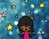 Dibujo Princesa con estrellas pintado por xXPucchiXx